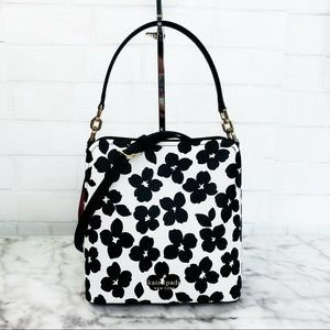 Kate Spade Darcy Graphic Blooms Small Bucket Bag